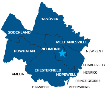 Heating and Air Service - Richmond Coverage Area